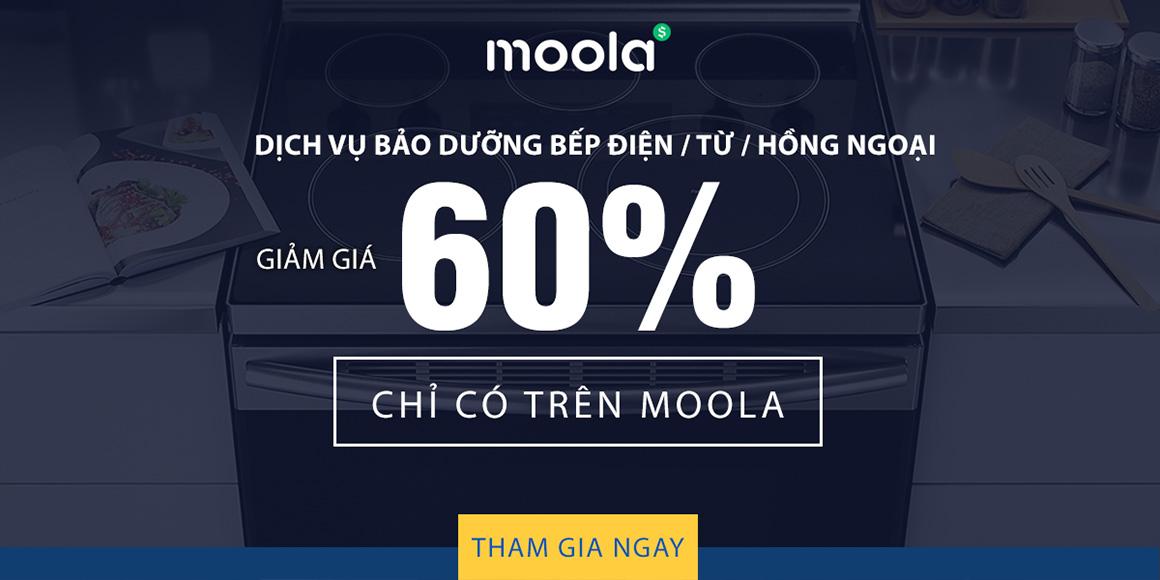 Dịch vụ bảo dưỡng bếp điện/ từ/ hồng ngoại giảm giá 60% chỉ có trên Moola. Tham gia ngay